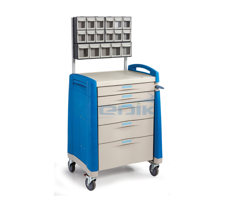 Model YA-TRA02 Anesthesia Cart With Multi Bin Organizer