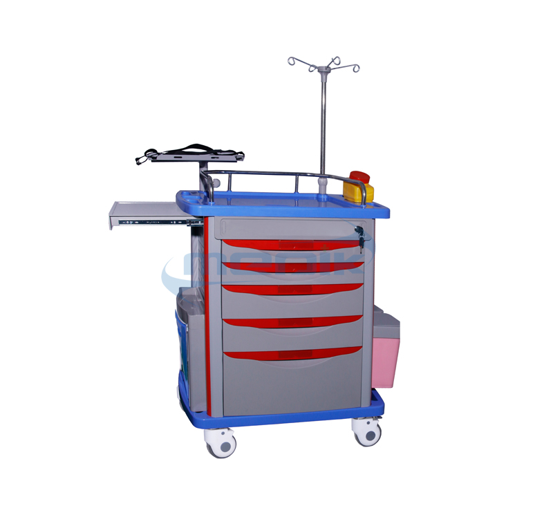 Model YA-ET75001A Medical Emergency Trolley