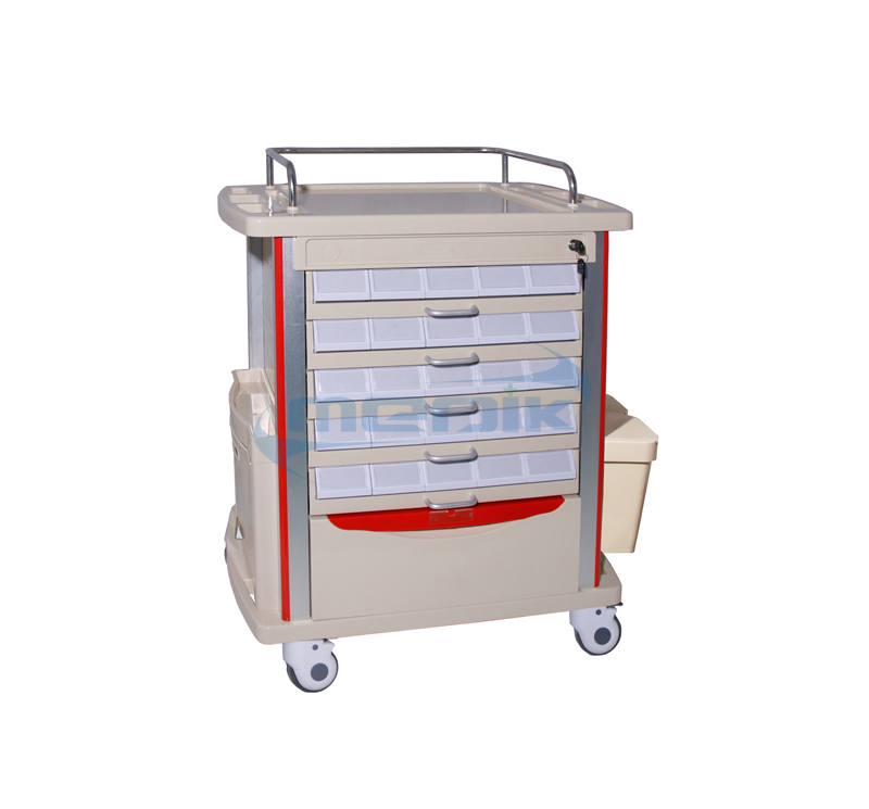 Model YA-MT85002A Medication Trolley Double Side Tryers
