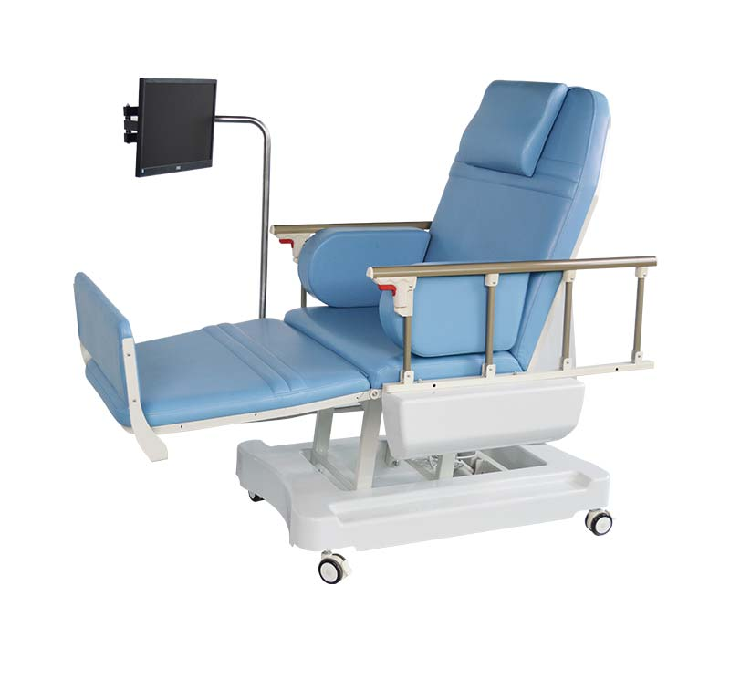 YA-DS-D01 Electric Hemodialysis Chair With Guardrail