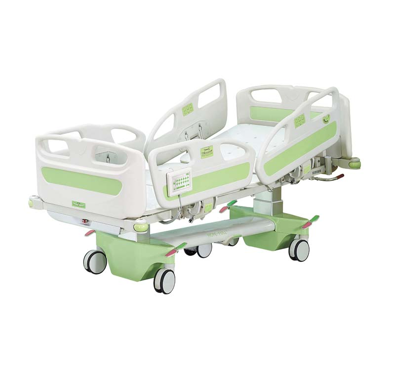 Column type electric intensive care hospital bed with tilt function