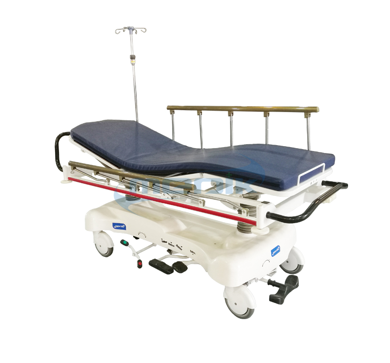 YA-111B-E Emergency Hydraulic Patient Stretcher With Full Length X-ray Platform