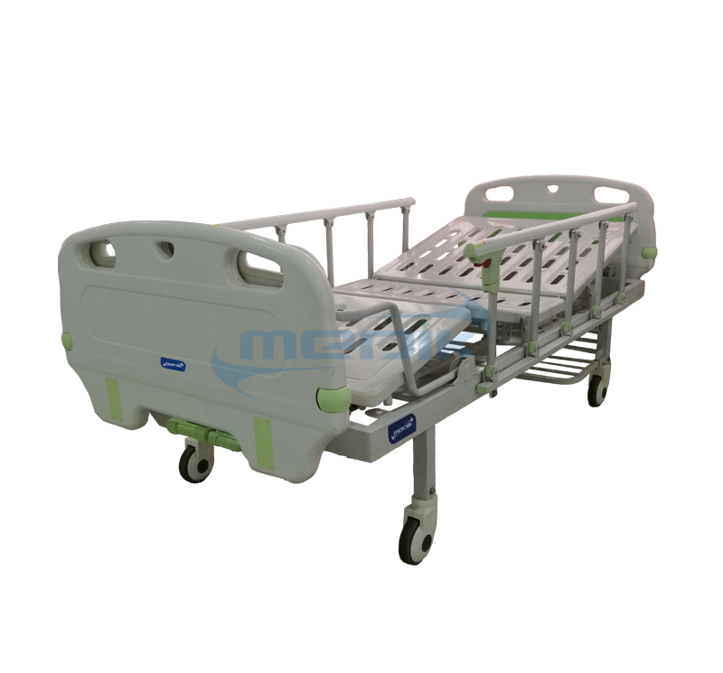 YA-M2-8 Two Crank Manual Nursing Sick Bed With Bumper