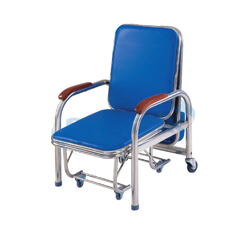 YA-L02 Stainless Steel Attendant Bed Cum Chair