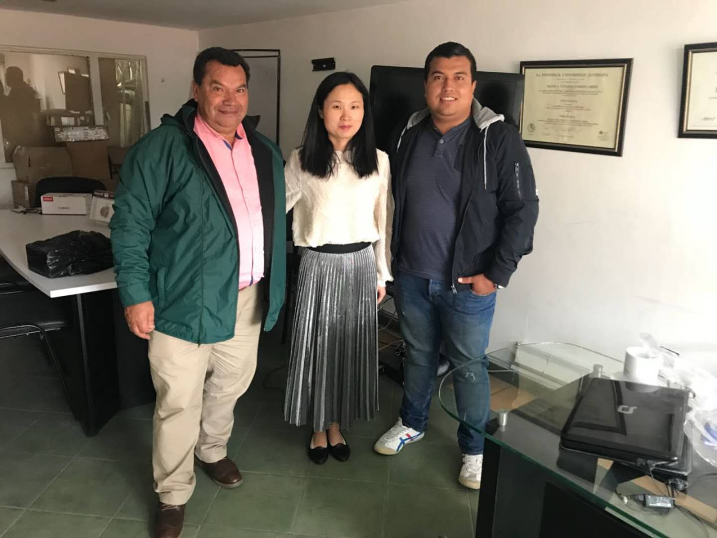 In June 2018,we visit several clients located in Colombia
