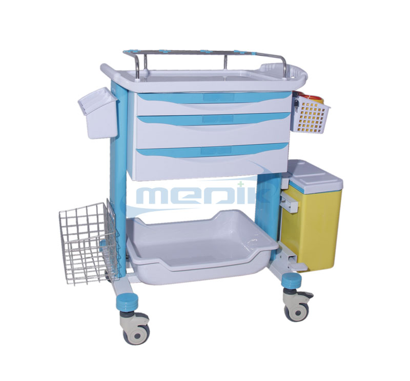 YA-CT78023D ABS Medical Crash Cart Medicine Trolley