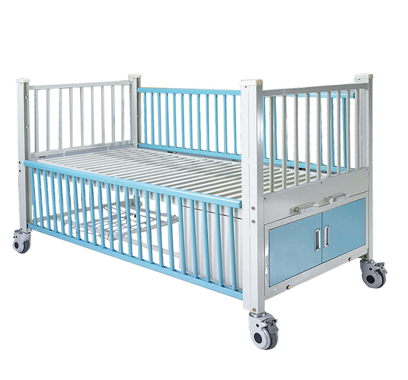 YA-PM2-2 Manual Pediatric Bed With Central Brake System