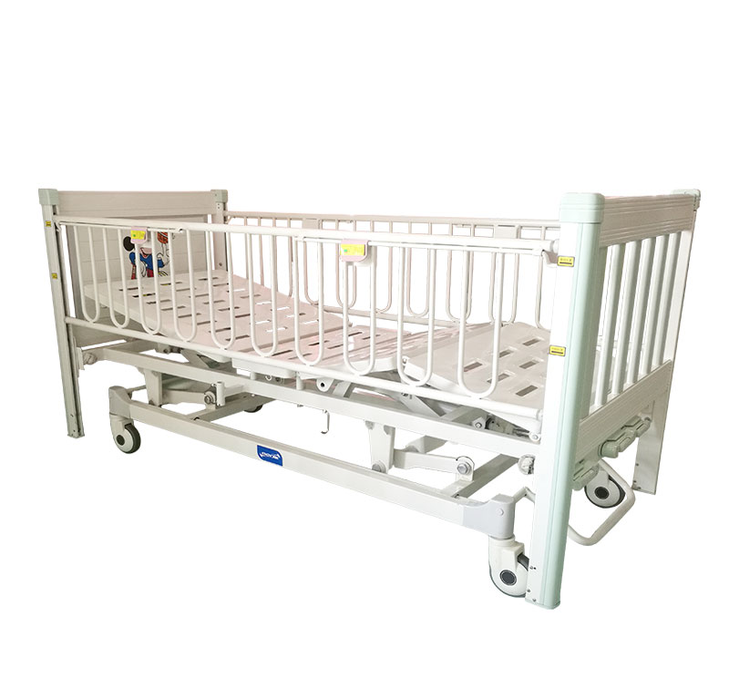 YA-PM3-1 Medical Adjustable Children Bed With Central Brake System