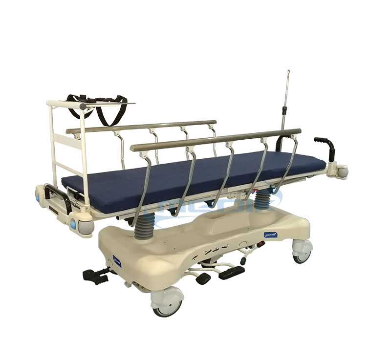 YA-PS02 Emergency Hydraulic Patient Stretcher With X-ray Platform And Acutant Pump