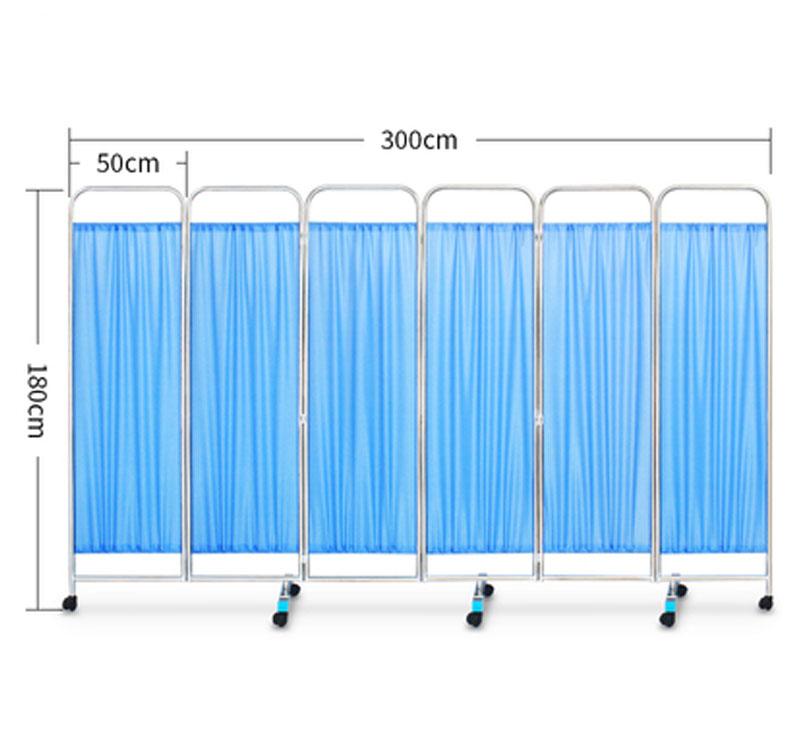 MK-N01 Hospital Folding Stainless Steel 3-Part Ward Screen