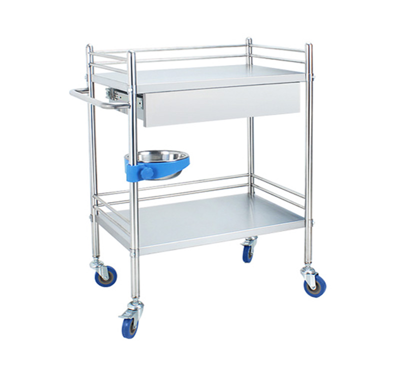 MK-S08 Stainless Steel Medical Dressing Trolley