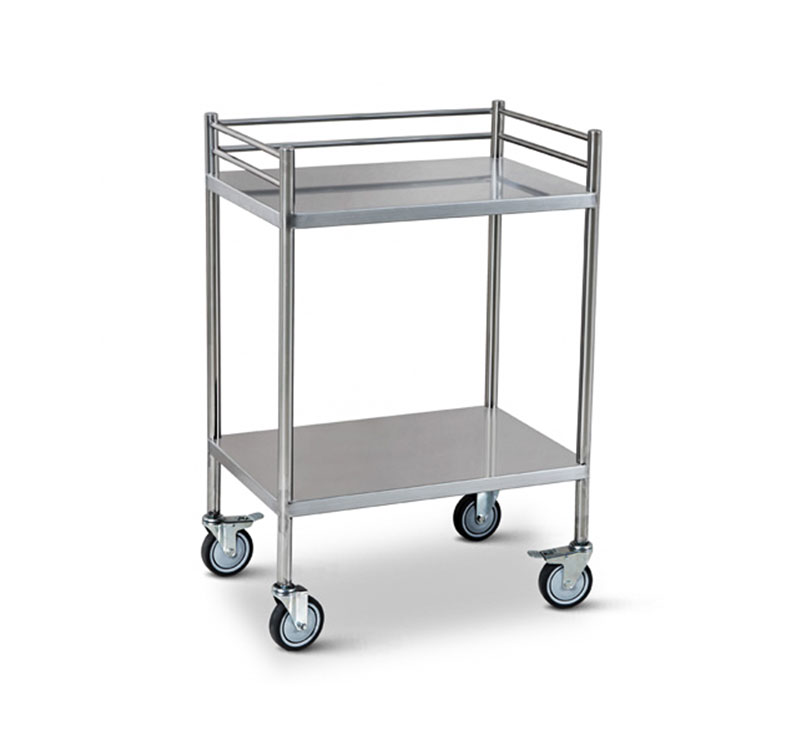 YA-165 Medical Stainless Steel Hospital Utility Cart Trolley