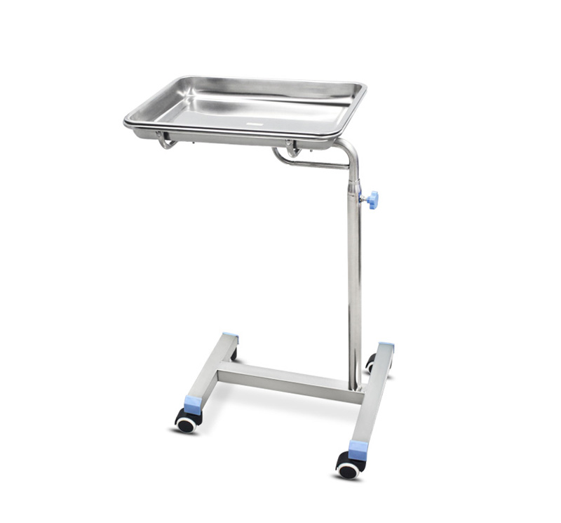 YA-081S Hospital Instrument Mayo Cart Trolley Stainless Steel