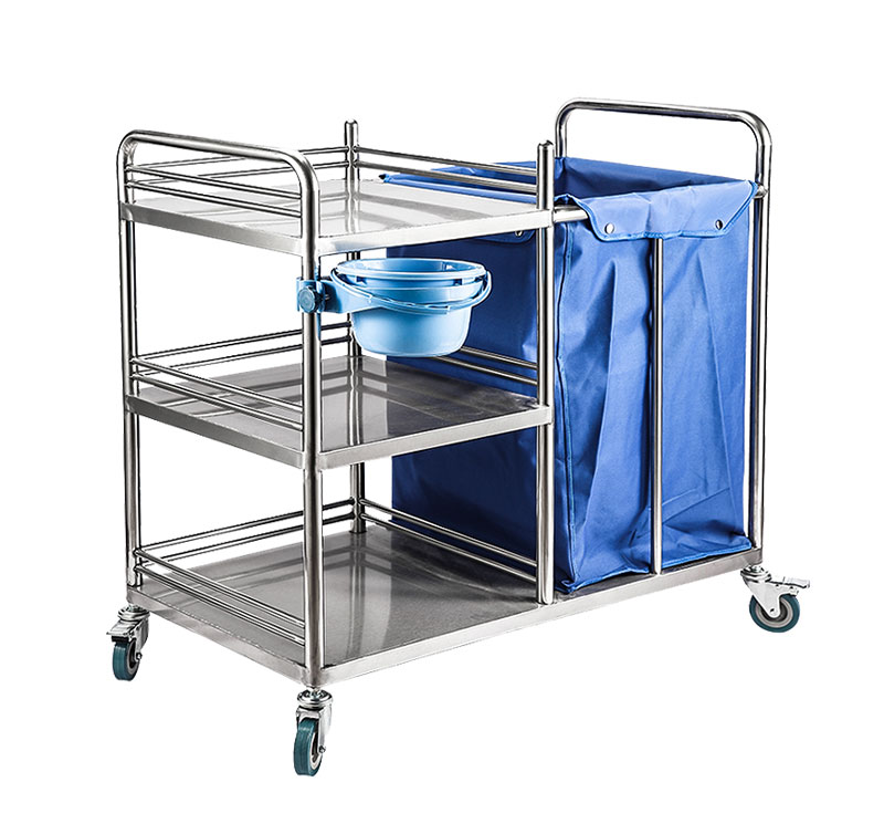 MK-S14 Stainless Steel Medical Dressing Laundry Trolley