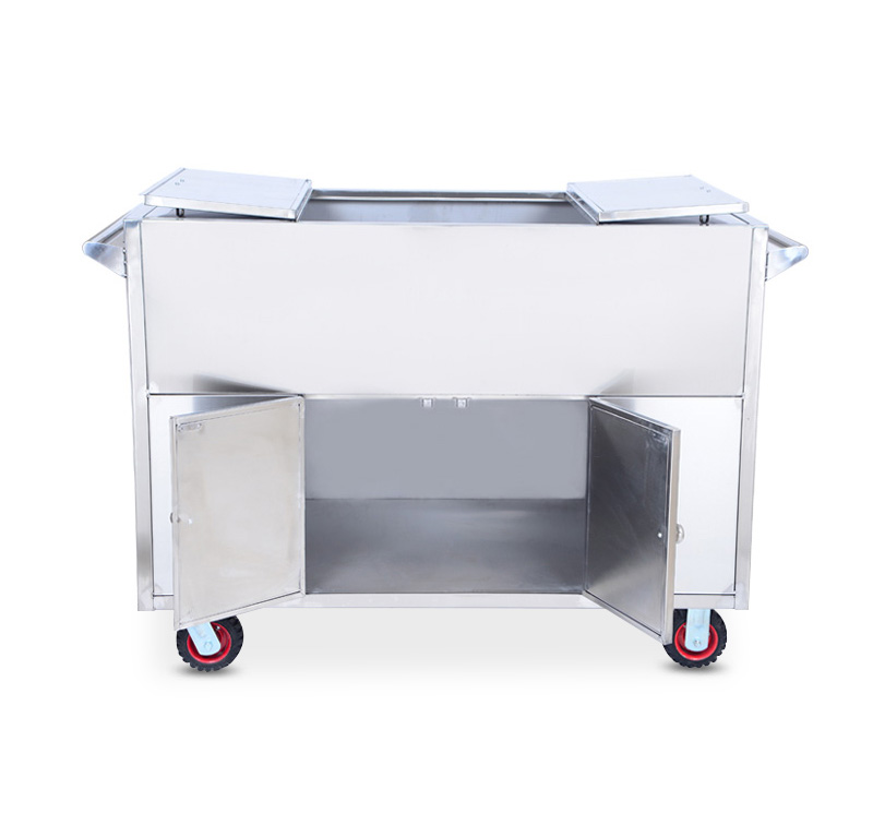 YA-ST01 Stainless Steel Hospital Aseptic Cabinet Surgical Trolley Nursing Trolley