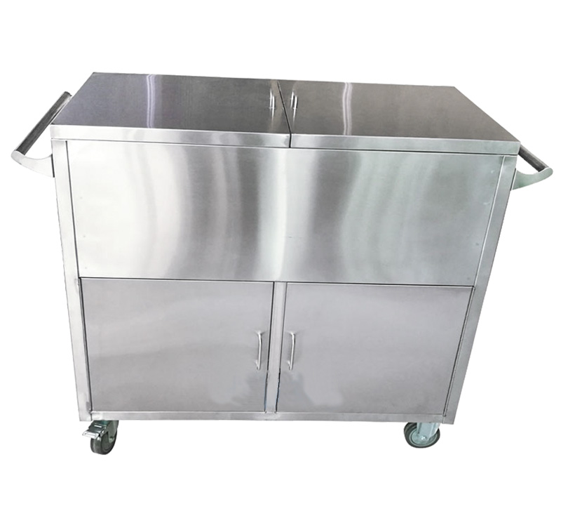 YA-ST02 Two Door Stainless Steel Case Carts For Medical CSSD