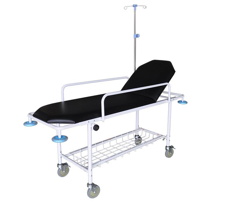 YA-PS10 Metal Frame Patient Trolley Backrest Ajustable