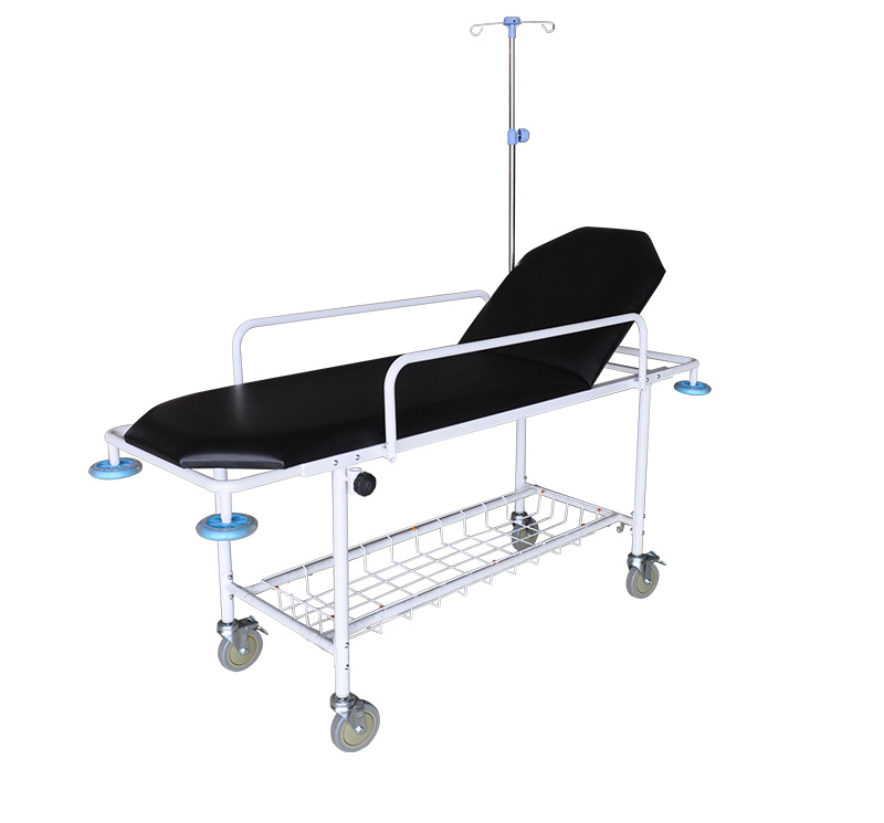 YA-PS10 Metal Frame Patient Trolley Backrest Ajustable