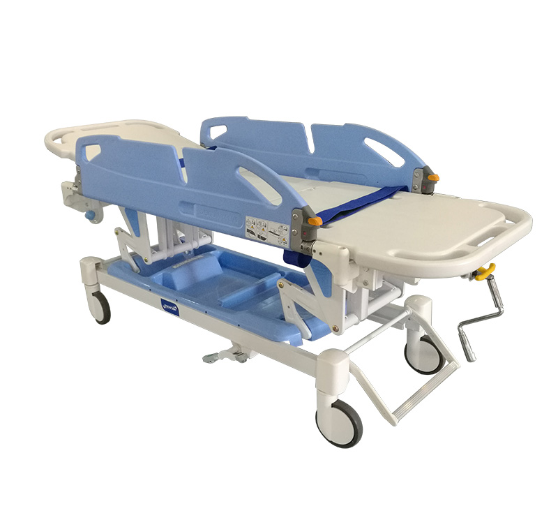 YA-PS04 Patient Transfer Trolley With Sliding Assisted Railing