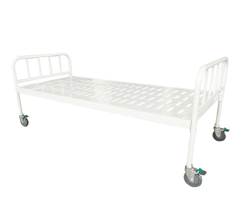 YA-M0-1 Simple Flat Hospital Steel Bed Metal Frame