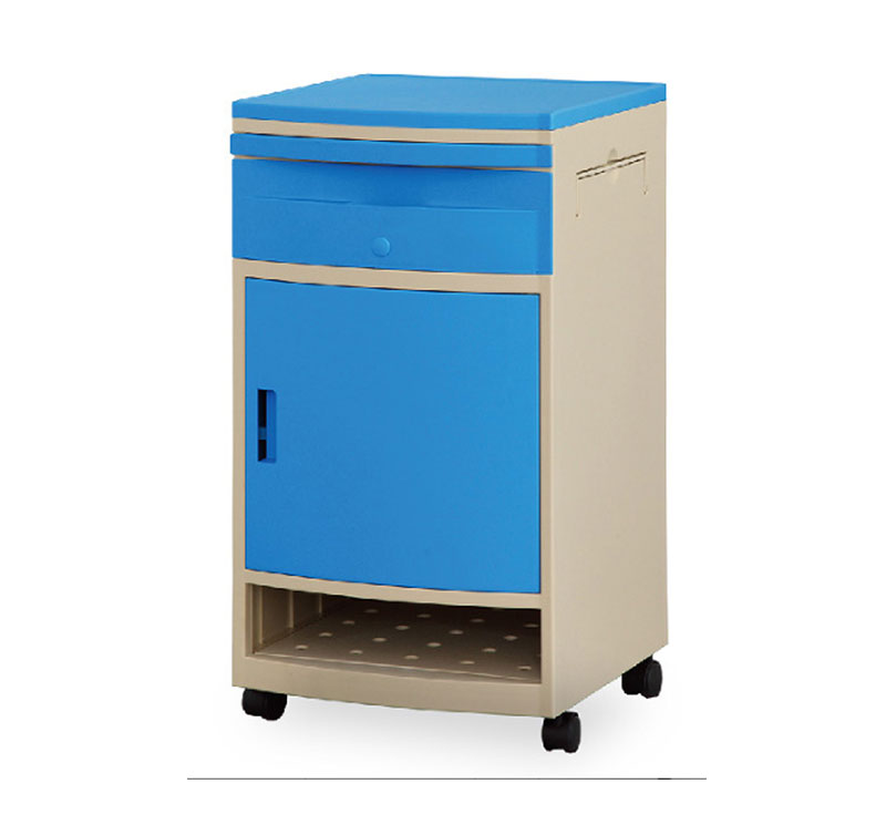 YA-B07 Medical Bedside Cabinet With Wheels
