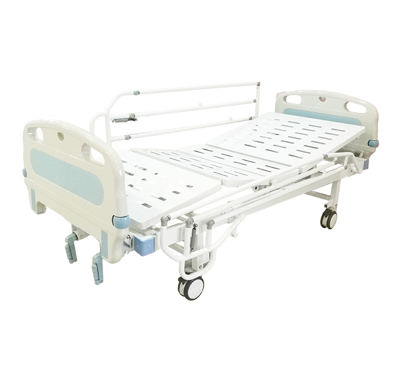 YA-M2-2 Two Crank Manual Nursing Sick Bed With Bumper
