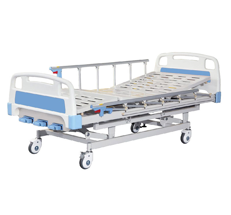 YA-M3-1 Three Function Manual Adjustable Bed With Central Locking