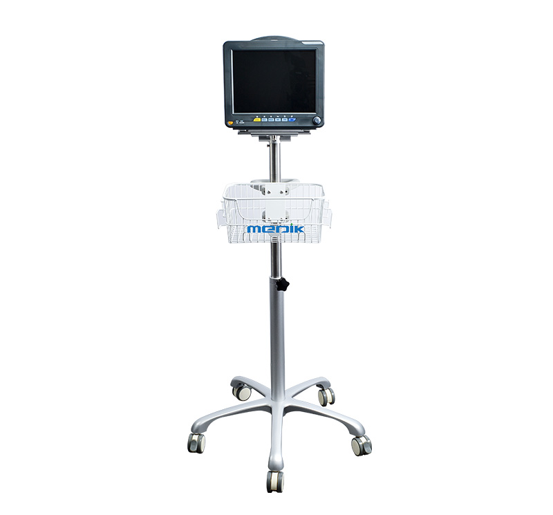 MK-IS07 Patient Monitor Roll Stand With Basket