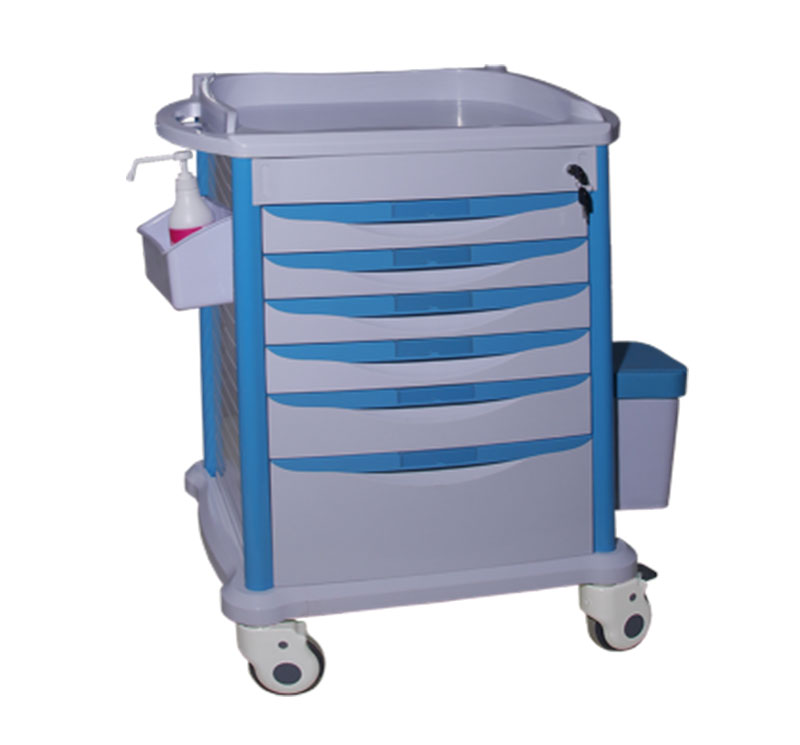 MK-P10 ABS Medical Crash Cart Medicine Trolley