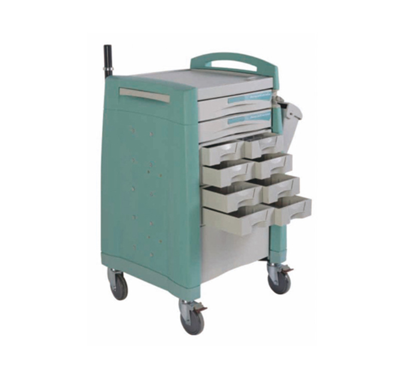 MK-P12 Medical Drug Trolley With Drawers