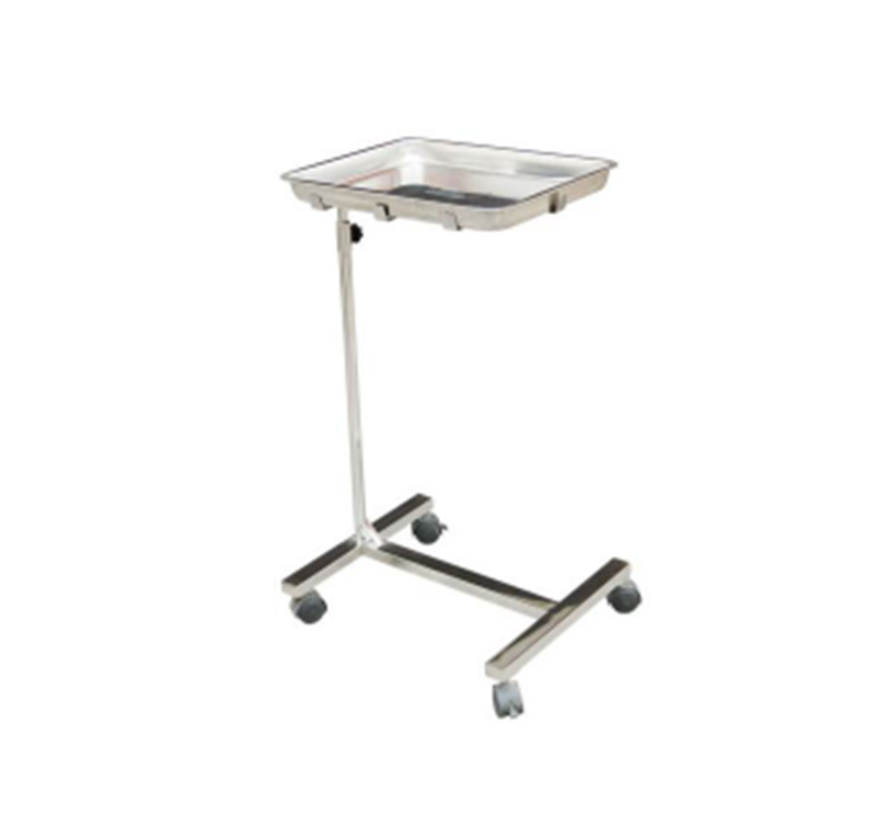 MK-S22 Hospital Instrument Mayo Cart Trolley Stainless Steel