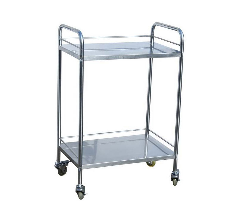 MK-S03 Medical Stainless Steel Hospital Utility Cart Trolley