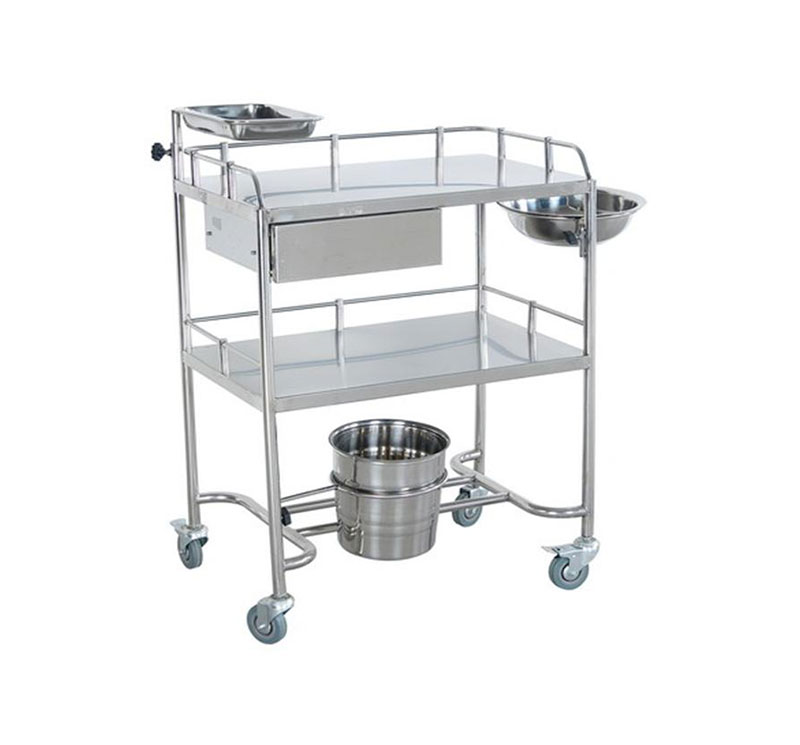MK-S03 SS Medical Instrument Trolley