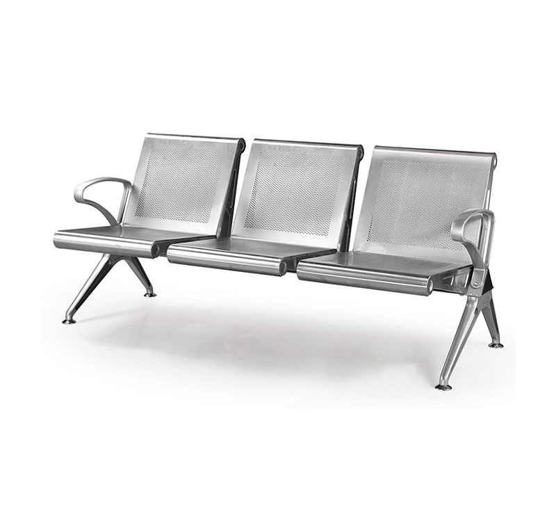 YA-W03 Stainless Steel Waiting Bench