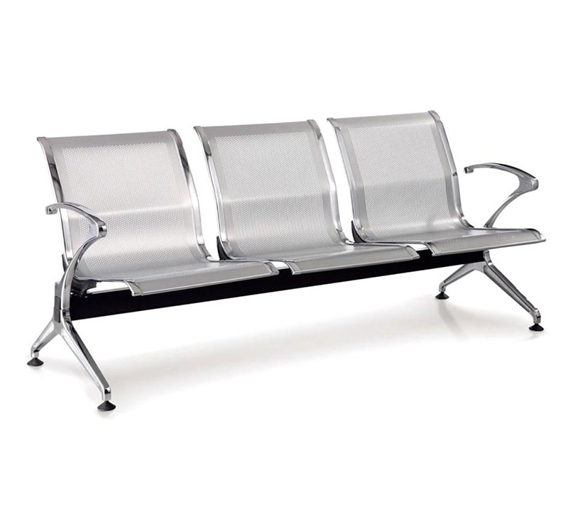 YA-W09 Stainless Steel 3 Seat Waiting Chair