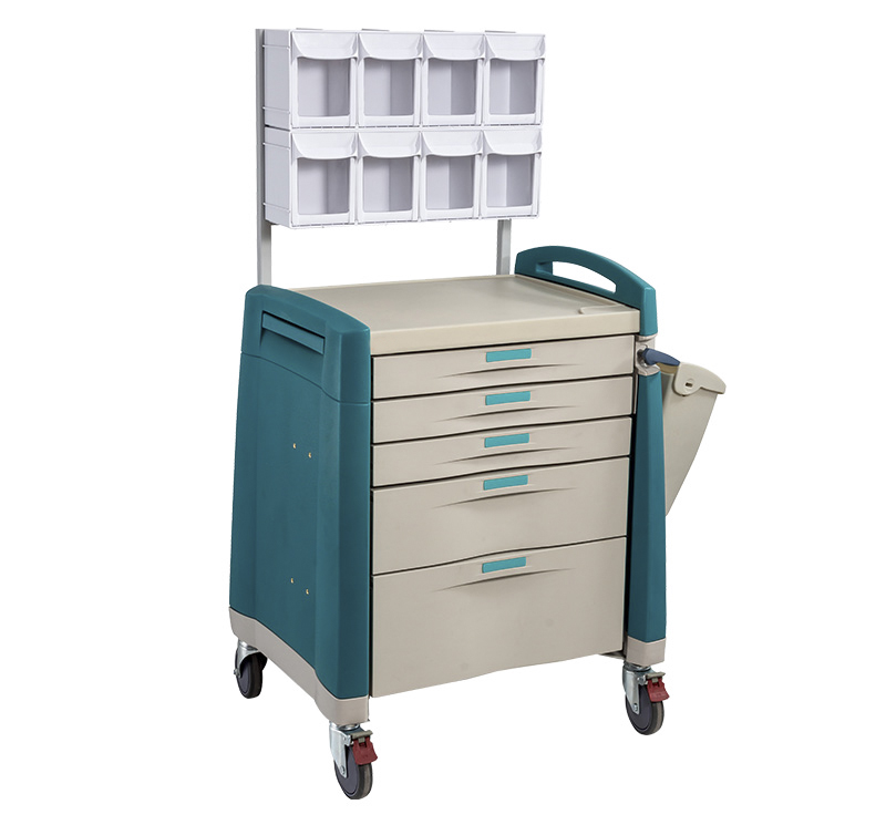 MK-P07 Anesthesia Cart With Multi Bin Organizer