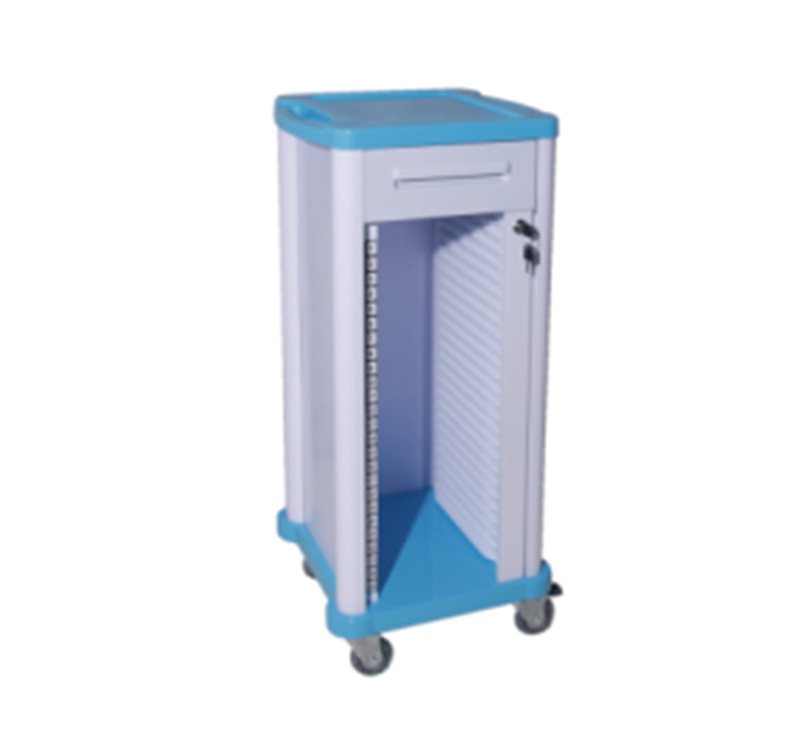 MK-P14 Medical Patient Record Trolley Plastic Material