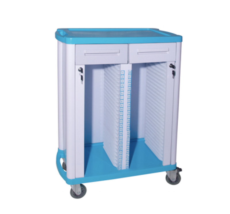 MK-P15 Hospital Patient Files Trolley With Drawer