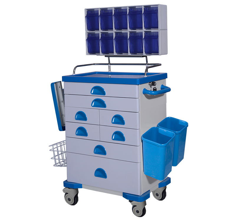 MK-C02 Medical Lockable Metal Anesthesia Trolley