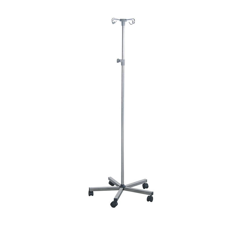 MK-IS02 Stainless Steel Heavy Duty Infusion Stand 5 Leg
