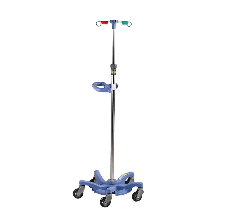 MK-IS04 Hospital Adjustable IV Drip Stand With Hand Rail