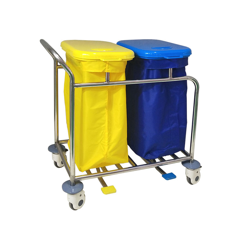 MK-S18 Clean And Soiled Linen Trolley With Lip