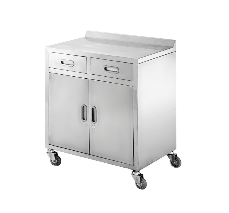 MK-S24 Stainless Steel Anesthesia Trolley With Drawers And Cabinet