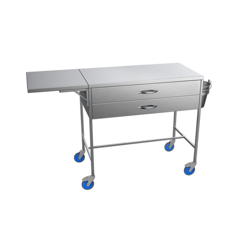 MK-S26 Stainless Steel Plaster Trolley With Shelf And Bucket