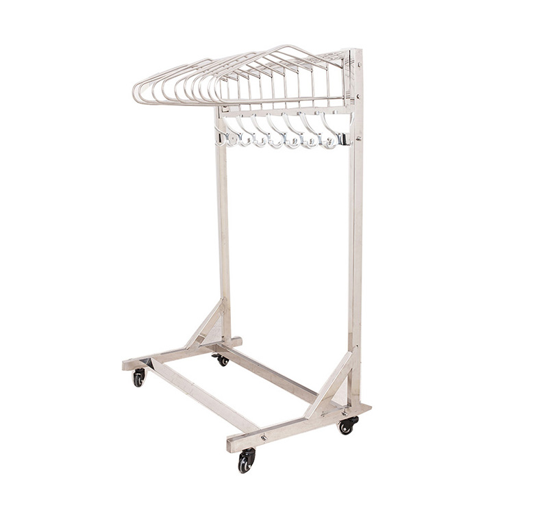 MK-S40 Stainless Steel Mobile Lead Apron Rack Trolley