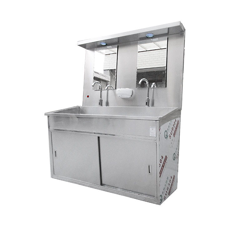 CSD-SR03 Double Station Scrub Sinks