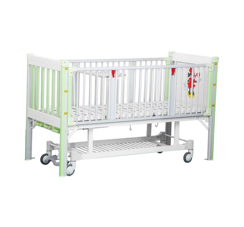 YA-PM3-1 Medical Adjustable Children Bed With Central Brake System