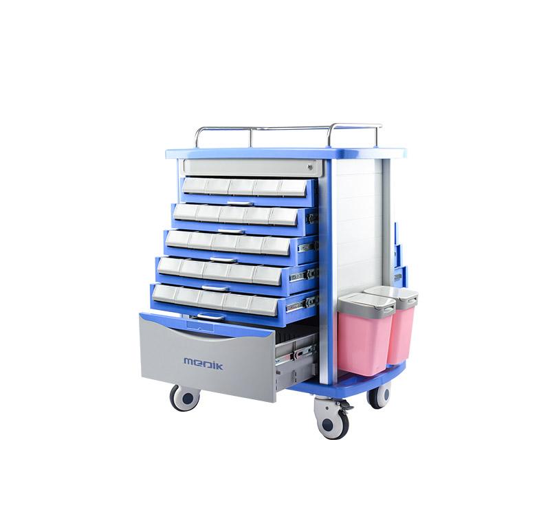 MK-P11 Medication Trolley Double Side Tryers
