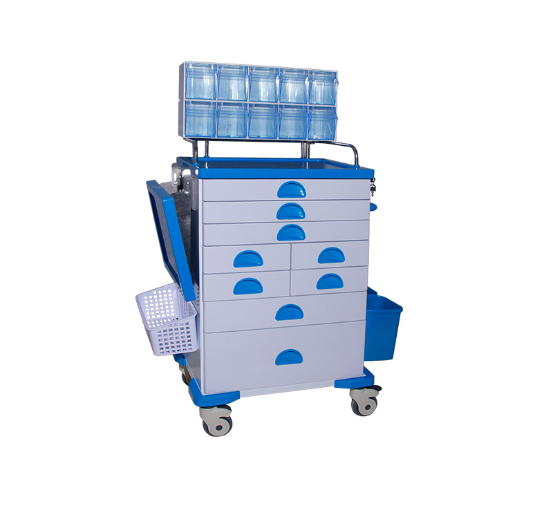 MK-C02 Medical Lockable Metal Anesthesia Trolley