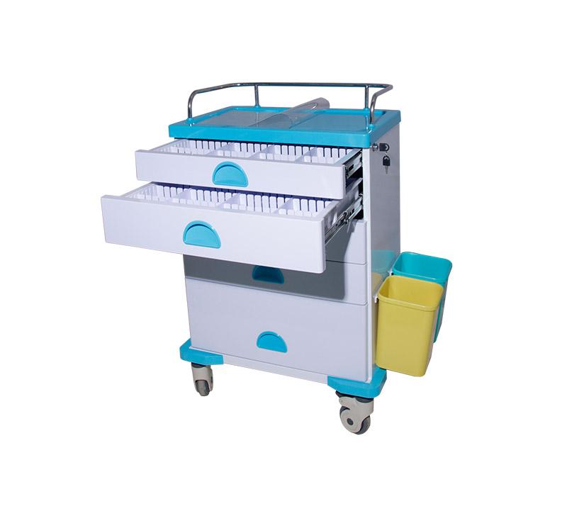 MK-C03 Metal Medication Cart With Castors